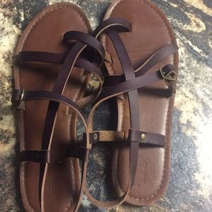 Brown Sandals size 8